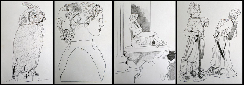 Fitzwilliam Museum drawings 1971