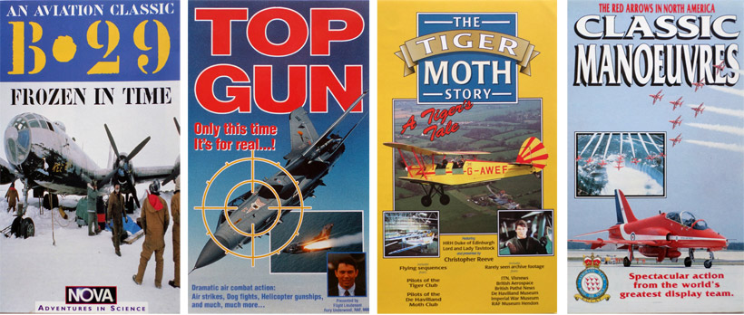B-29, Frozen in Time. Top Gun. The Tiger Moth Story. The Red Arrows, Classic Manoeuvres.