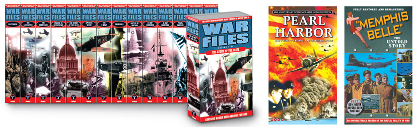 War Files - an unused massive box set concept! Pearl Harbor documentary, for star Video. The true story of Memphis Belle.