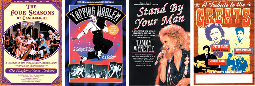 The Four Seasons by Candlelight. Tapping Harlem. Tammy Wynette Tribute Show, Stand By Your Man. Country and Western Tribute show, A Tribute to the Greats.