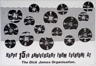 A 1/2 page advert for the Dick James Organisation.