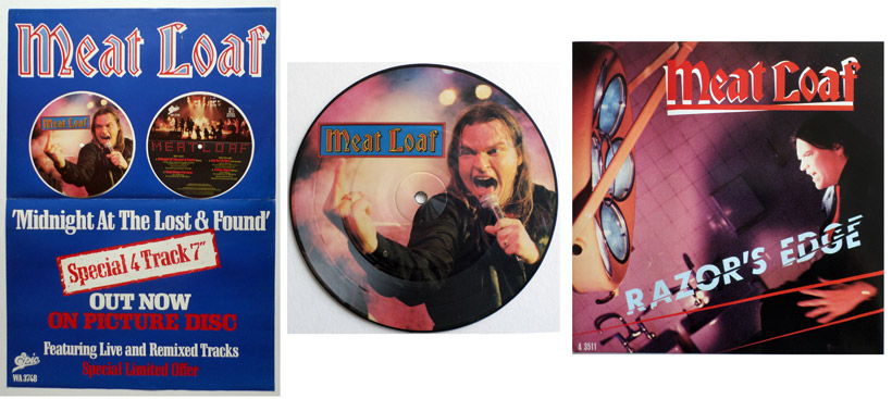 Meat Loaf poster, picture disc & 7