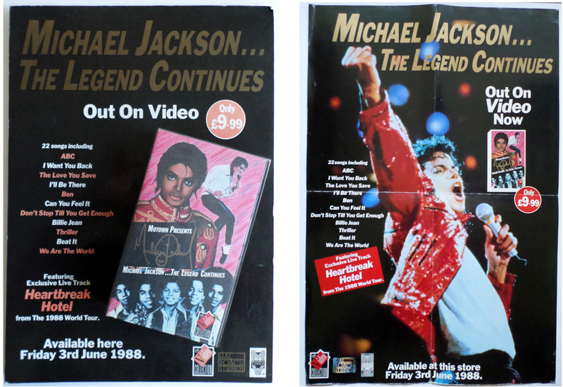 Michael Jackson - The Legend Continues. Point Of Sale Presenter, Large Poster