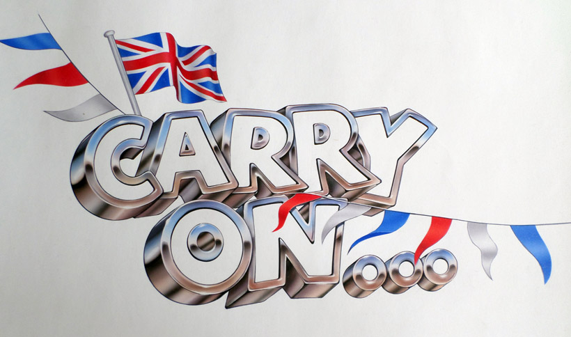 I designed the CARRY ON video series, and used the skills of Jeff Nicholson to artwork the logo with bunting and a flag.
