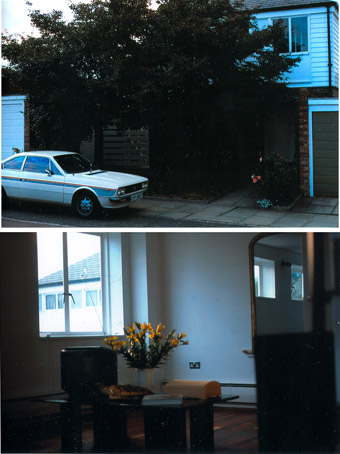 2 photos taken on Transparency film of my second house in West Dulwich, London SE21. The car is a Lancia Beta Coupe, sold to me by my friend Jacky Moini's, brother. I only lived in this house for 18 months even though it had 3 bedrooms and was perfect,when I had finished renovations.