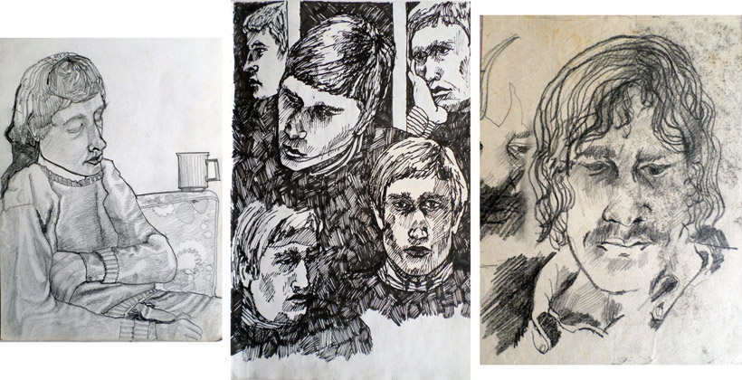 Studies of Chris Scott, a friend of mine at Oakington