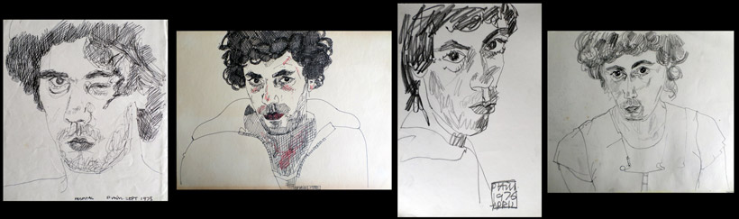 Drawings of me from 1975-76