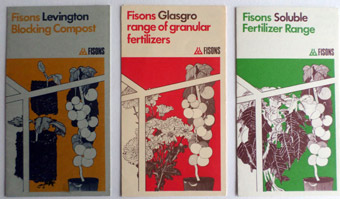 3 leaflets for Fisons Composts