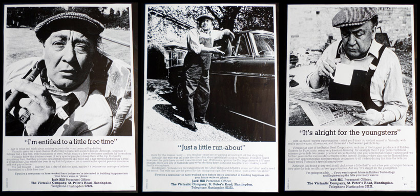 3 adverts for the Victaulic Company, featuring the actor Tommy Godfrey