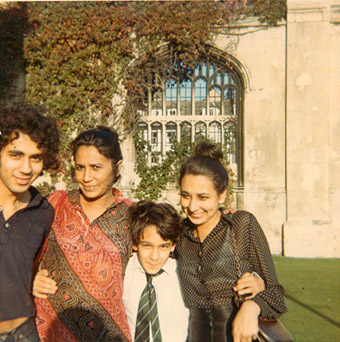 Me, my mother Stella, my sister Patricia and my brother David, Kings College Cambridge 1974